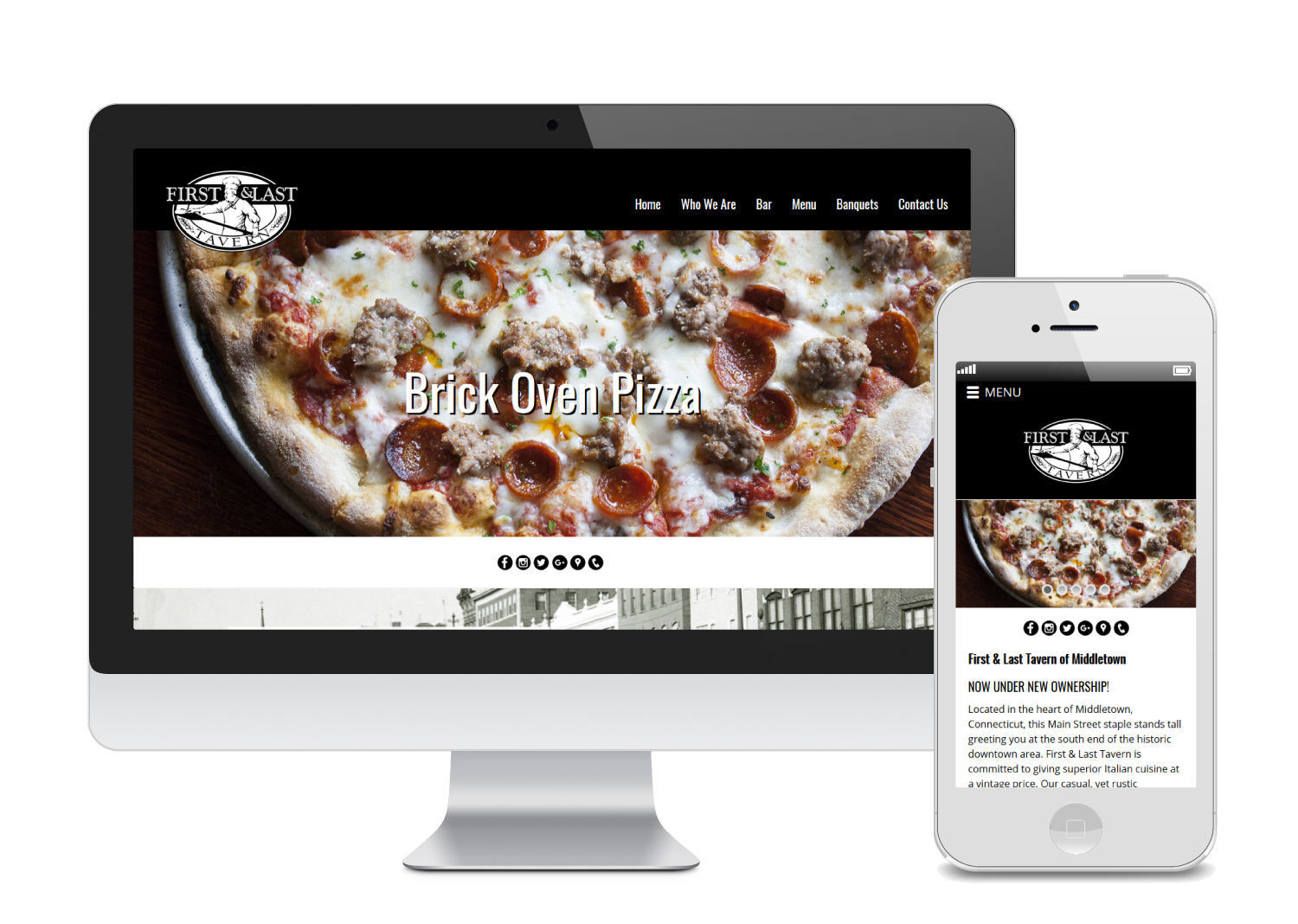 First Last Tavern - Web Design Template