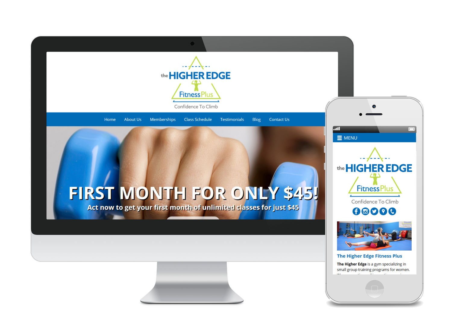 The Higher Edge - Web Design Template